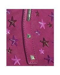 Jimmy Choo - Purple Raspberry Leather Scarlet Star Studded Tote - Lyst