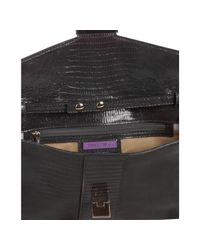 Jimmy Choo - Gray Lizard Embossed Leather Convertible Clutch - Lyst