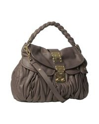 Miu Miu | Brown Clay Quilted Lambskin Pocket Hobo | Lyst