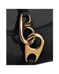 Tom Ford | Black Pebbled Leather Carine Bag | Lyst