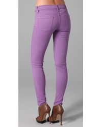 7 For All Mankind - Purple The Skinny Jeans - Lyst