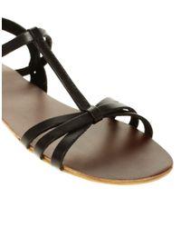ASOS - Black Asos Flossy Flat Sandals  - Lyst