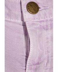 Current/Elliott | Purple The Ankle Low-rise Skinny Jeans | Lyst