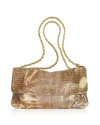 Elie Tahari - Metallic Emory Gold Leather Handbag - Lyst