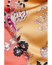 Etro - Multicolor Printed Stretch-silk Top - Lyst