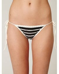 Free People | Black Crochet Bikini Bottom | Lyst