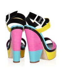Giuseppe Zanotti - Multicolor Neon Colorblock Platform Sandal - Lyst
