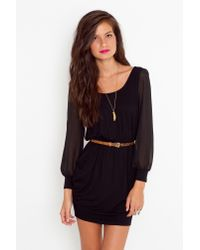 Nasty Gal - Lily Lattice Dress - Black - Lyst