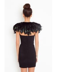 Nasty Gal - Black Ostrich Feather Collar - Lyst