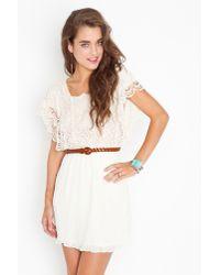 Nasty Gal - Natural Calla Crochet Dress - Lyst