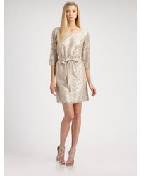 Shoshanna | Metallic Lace Dress | Lyst