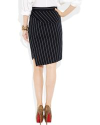 Vivienne Westwood Anglomania | Blue New Accident Striped Cotton-blend Skirt | Lyst