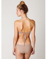 Free People | Metallic Sequin Cut Out One Piece | Lyst