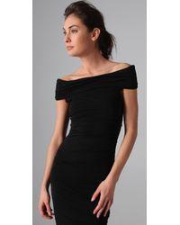 James Perse - Black Off Shoulder Dress - Lyst