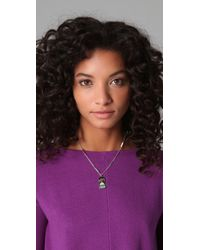 Marc By Marc Jacobs - Metallic Miss Marc Pendant Necklace - Lyst