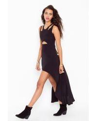 Nasty Gal | Black Aq/aq Aiko Maxi Dress | Lyst
