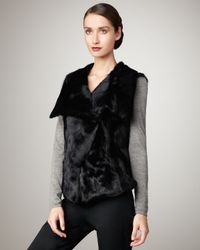 Pologeorgis | Black Spread-collar Goat Vest | Lyst