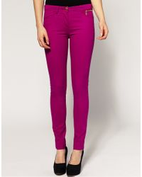 River Island - Pink Skinny Jeans - Lyst