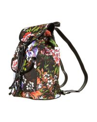 TOPSHOP | Black Tropical Print Backpack Bag | Lyst