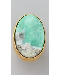 Alexis Bittar - Green Oval Rough Chrysophase Ring - Lyst