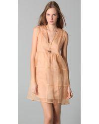 Antipodium - Natural Checker Dress - Lyst