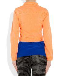 Christopher Kane | Blue Neon Stretch-Denim Jacket | Lyst