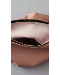 Clare V. | Beige Fold Over Clutch | Lyst