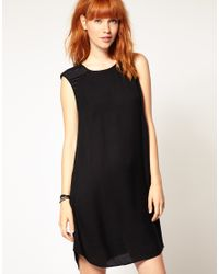 DIESEL | Black Shoulder Detail Cocoon Dress | Lyst