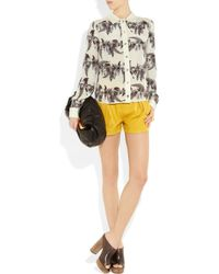 Emma Cook - Yellow Leather Shorts - Lyst
