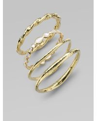 Ippolita - Metallic 18K Yellow Gold Hammered Bracelet - Lyst