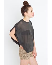 Nasty Gal | Gray Draped Muscle Tee | Lyst