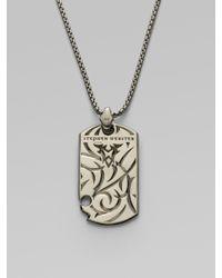 Stephen Webster - Metallic Fighter Silver Dogtag Necklace for Men - Lyst