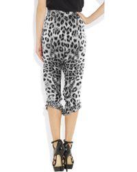 Thomas Wylde | Multicolor Demon Dog Leopard-Print Silk-Charmeuse Pants | Lyst