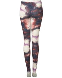 TOPSHOP | Purple Space Print Legging | Lyst