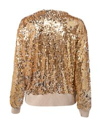 TOPSHOP - Metallic Knitted All-Over Sequin Jacket - Lyst