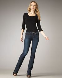True Religion | Blue Becky Rec Hardware Midnight Rage Jeans | Lyst
