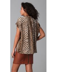 Twelfth Street Cynthia Vincent - Multicolor Oversized Button Up Blouse - Lyst