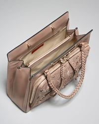 Valentino - Natural Demetra Leather-Lace Bag - Lyst