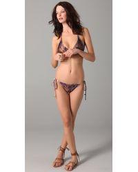 We Are Handsome - Brown String Bikini Set - Lyst