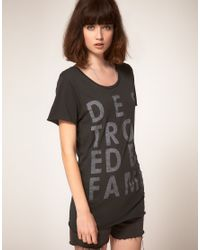 Zoe Karssen - Black Destroyed By Fame Cotton and Modal-blend T-shirt - Lyst