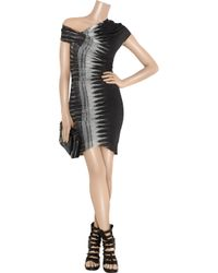 Helmut Lang - Gray Frequency Asymmetric Modal-jersey Dress - Lyst