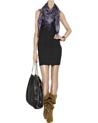 Isabel Marant - Black Colin Stretch Linen-Blend Strapless Dress - Lyst