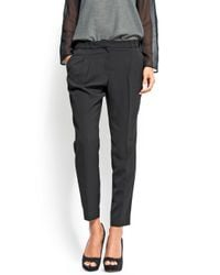 Mango | Black Cropped Chino Trousers | Lyst