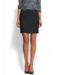Mango - Black Reversible Sequin Skirt - Lyst
