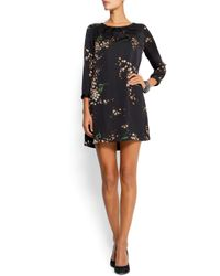 Mango | Black Ruffled Printed Dress | Lyst