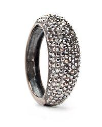 Mango - Black Bracelet with Crystal Beads Embellishments - Lyst