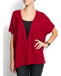 Mango | Purple Openwork Knit Cardigan | Lyst