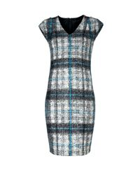 Mango - Gray Sheath Dress - Lyst