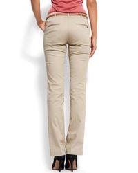Mango - Natural Straight-leg Trousers - Lyst