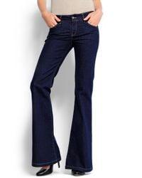 Mango   Blue Bell Bottom Jeans   Lyst